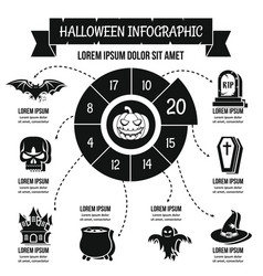 Halloween infographic concept simple style vector