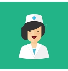 Happy doctor woman isolated nurse girl vector image
