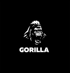 head an angry gorilla vector image