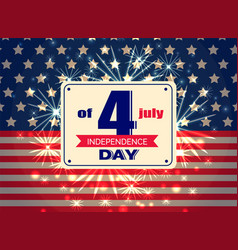 independence day 4th of july colorful vector image