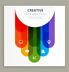 Infographic icons creative design vector