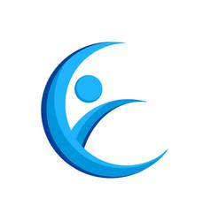 initial e lettermark crescent swoosh symbol design vector image