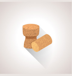 isometric cork plugs vector image