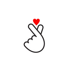 korean love logo design template vector image