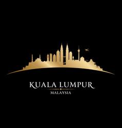 Kuala lumpur malaysia city skyline silhouette vector