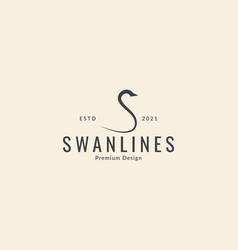 Letter s unique shape for swan logo icon symbol vector