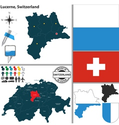 Map of Lucerne vector image