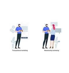 marketing strategies metaphor concept vector image