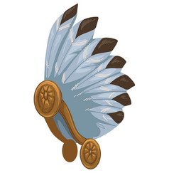 mayan headgear with feathers culture and customs vector image