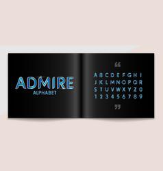metal font and alphabet set lettering design for vector image
