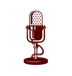 Microphone on white background design element for vector