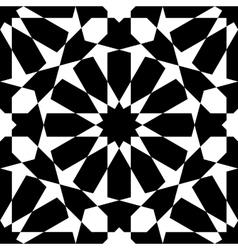 Moroccan black pattern vector image