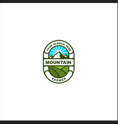 mountain farmer vector image