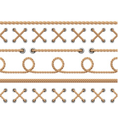 nautical ropes seamless line rope design pattern vector image