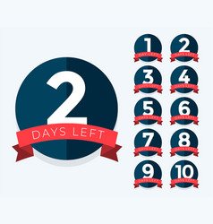 Number of days left badge counter vector