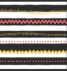 pattern horizontal stripes black white vector image