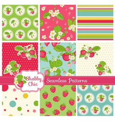 Patterns and Backgrounds - Strawberry vector image