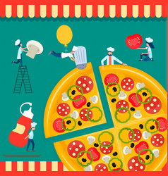 Pizza cooking vector