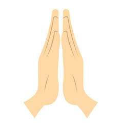 prayer icon isolated vector image
