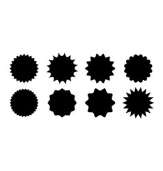 promo sale sticker starburst star label vector image