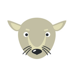 Rat face in flat design vector