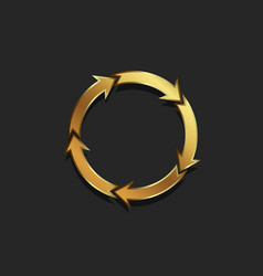 redo of arrows circle gold colored vector image