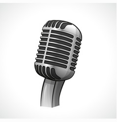 Retro microphone design drawing vector