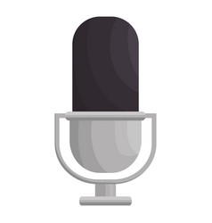 retro microphone isolated icon vector image