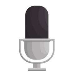 retro microphone isolated icon vector image