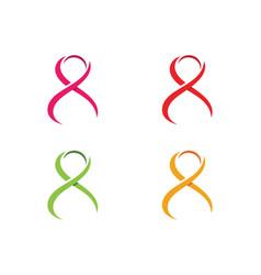 ribbon logo template icon design vector image