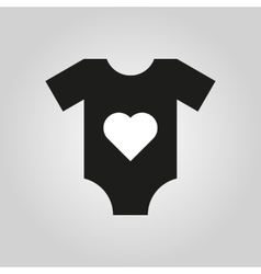 Romper suit icon design Shirt clothes symbol vector