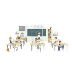 School class behavior teacher vector