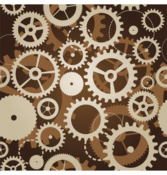 seamless pattern with cogs and gears vector image