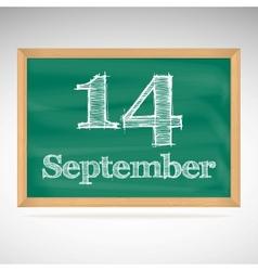 September 14 day calendar school board date vector