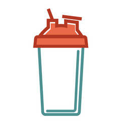 Shaker for healthy food vector