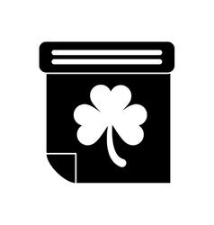 Silhouette calendar clover st patrick day irish vector