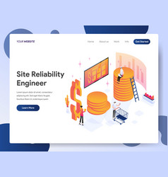 site reliability engineer isometric vector image