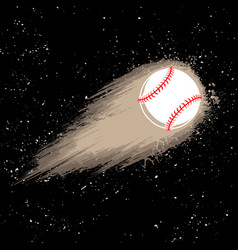 Space comet baseball background vector
