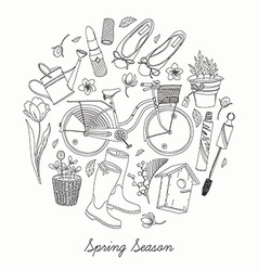Spring Essential Icon Set vector image