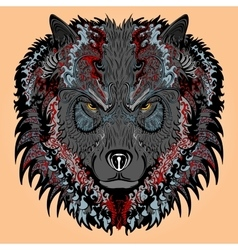 Stylised wolf vector image