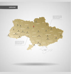 stylized ukraine map vector image