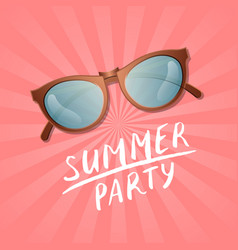 Summer party poster with elegant sunglasses vector
