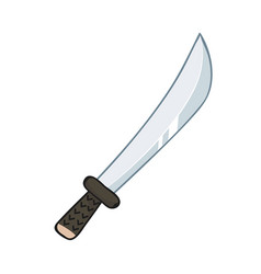 sword isolated vector image