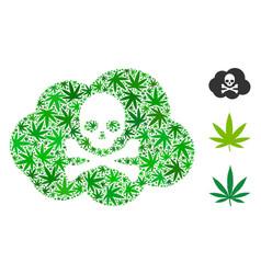 Toxic smoke mosaic of hemp leaves vector