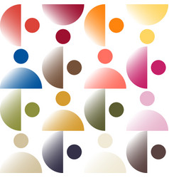Trendy color pattern by gradient color patches vector