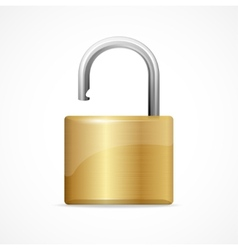 unlocked padlock gold vector image