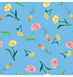 Various flowers background vector