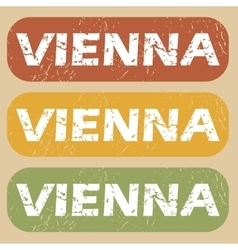 Vintage Vienna stamp set vector