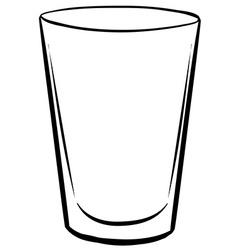 Water glass vector