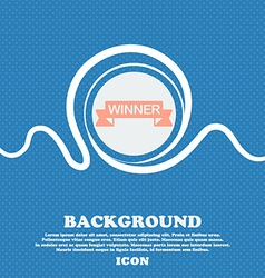Winner sign Blue and white abstract background vector